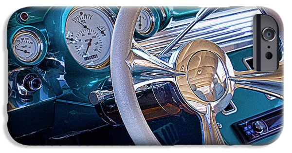 Old Cars iPhone Cases - Chevy 1957 bel air iPhone Case by Elena Nosyreva