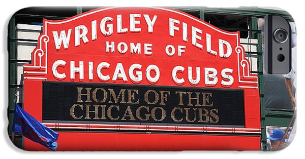 Chicago Cubs iPhone Cases - Chicago Cubs - Wrigley Field iPhone Case by Frank Romeo