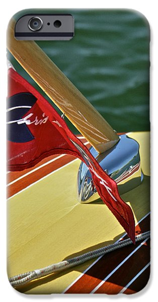 Mahogany Red iPhone Cases - Chris Craft Classic iPhone Case by Steven Lapkin