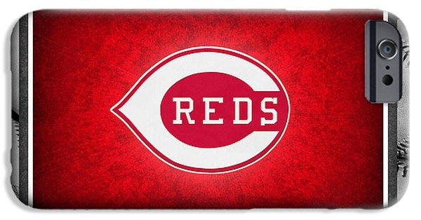 Baseball Field iPhone Cases - Cincinnati Reds iPhone Case by Joe Hamilton