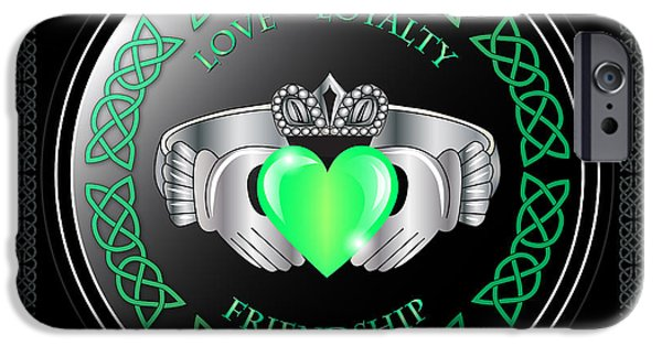 Celtic iPhone Cases - Claddagh Ring iPhone Case by Ireland Calling