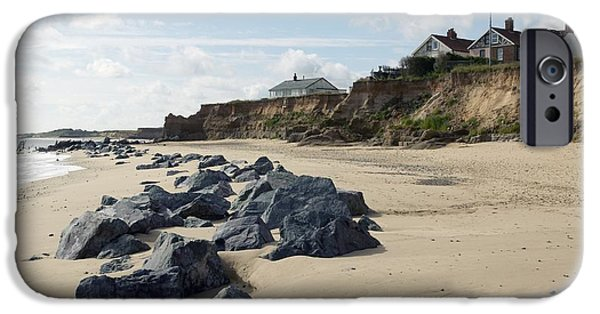 North Sea iPhone Cases - Coastal Erosion, Norfolk iPhone Case by Colin Cuthbert