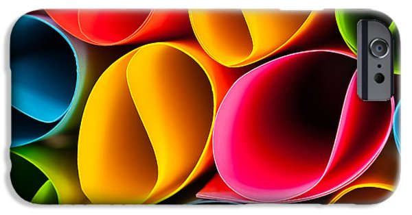 Asymmetrical iPhone Cases - Colorful Abstract iPhone Case by Raul Rodriguez