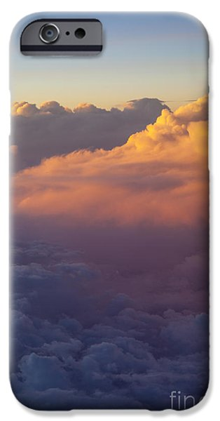 Colorful Clouds iPhone Case by Brian Jannsen