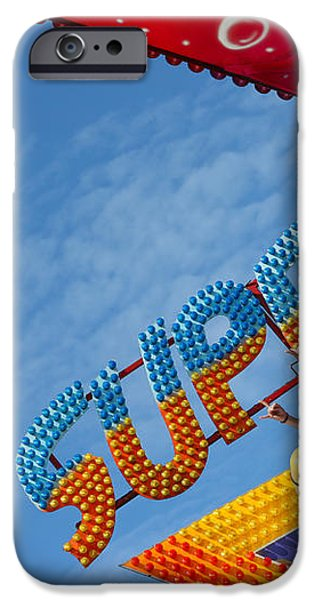 Colorful Fairground Ride iPhone Case by Ken Biggs