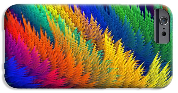 Abstractions iPhone Cases - Computer Generated Abstract Fractal Flame iPhone Case by Keith Webber Jr