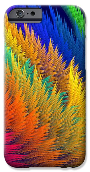 Computer Generated Abstract Fractal Flame iPhone Case by Keith Webber Jr