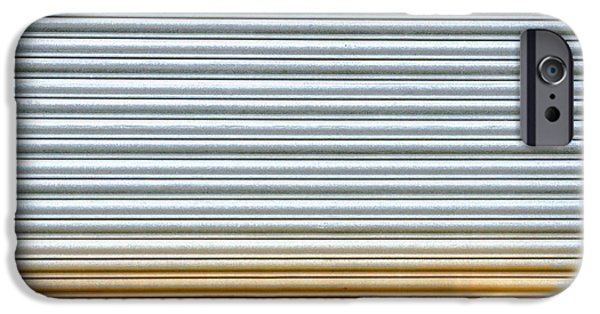 Metallic Sheets iPhone Cases - Corrugated metal iPhone Case by Tom Gowanlock