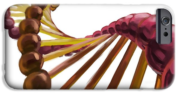 Dna Art iPhone Cases - Dna iPhone Case by Spencer Sutton