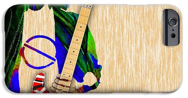 Van Halen iPhone Cases - Eddie Van Halen Special Edition iPhone Case by Marvin Blaine