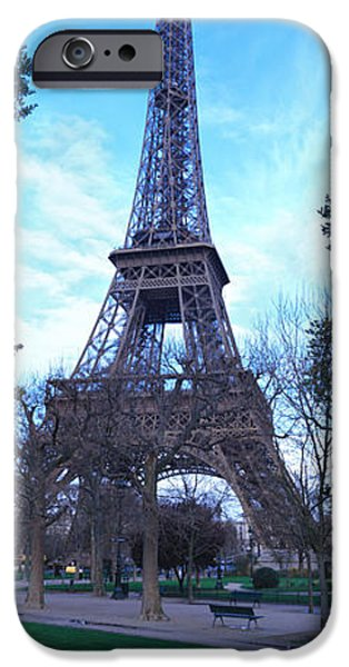 19th Century iPhone Cases - Eiffel Tower Paris France iPhone Case by Panoramic Images