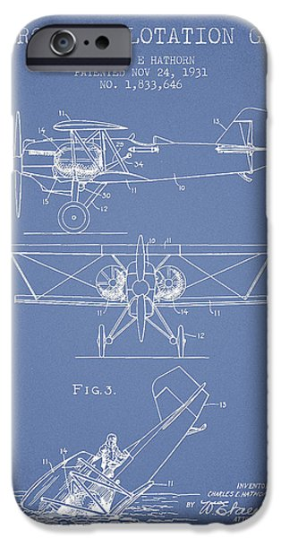 Gear iPhone Cases - Emergency flotation gear patent Drawing from 1931 iPhone Case by Aged Pixel