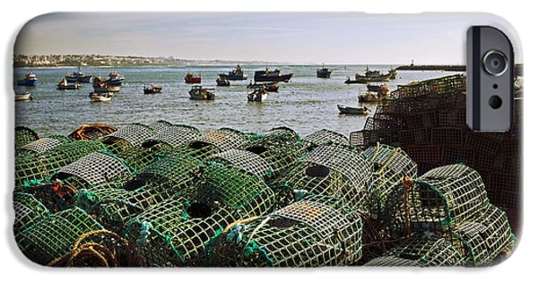 Old Village iPhone Cases - Fishing Traps iPhone Case by Carlos Caetano