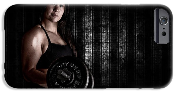 Sweat iPhone Cases - Fitness Model iPhone Case by Jt PhotoDesign
