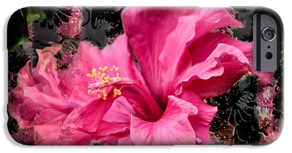 Pen And Ink iPhone Cases - Flower iPhone Case by Laura L Leatherwood