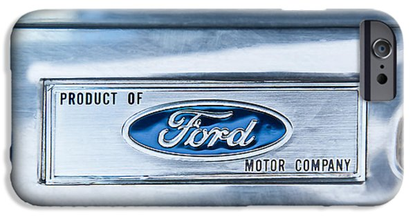 Of Power iPhone Cases - Powered by Ford Emblem -0307C iPhone Case by Jill Reger