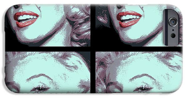 Beauty Mark Digital iPhone Cases - 4 Frame Marilyn Pop Art iPhone Case by Daniel Hagerman