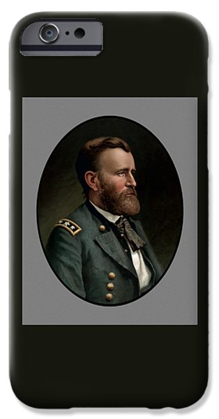 U.s Heroes iPhone Cases - General Grant iPhone Case by War Is Hell Store
