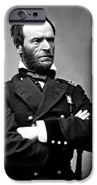 Sea iPhone Cases - General William Tecumseh Sherman iPhone Case by War Is Hell Store