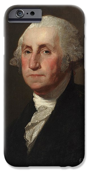 White House Paintings iPhone Cases - George Washington iPhone Case by Gilbert Stuart