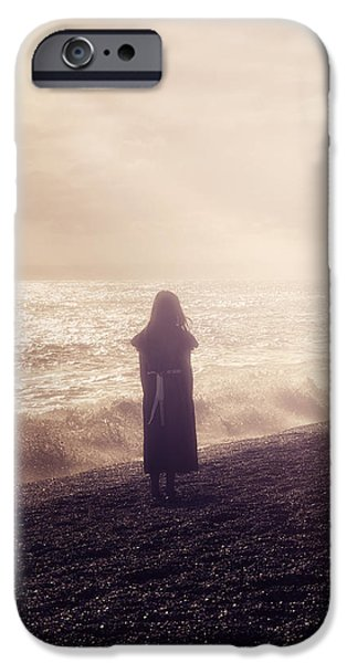 Enjoying iPhone Cases - Girl On Beach iPhone Case by Joana Kruse