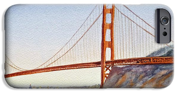 Best Sellers -  - Bay Bridge iPhone Cases - Golden Gate Bridge San Francisco iPhone Case by Irina Sztukowski