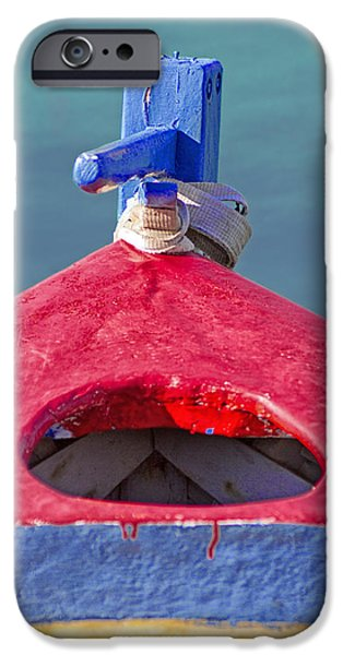 Business Photographs iPhone Cases - Greek Fishing Boat iPhone Case by Stylianos Kleanthous