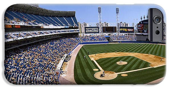 Baseball iPhone Cases - High Angle View Of A Baseball Stadium iPhone Case by Panoramic Images
