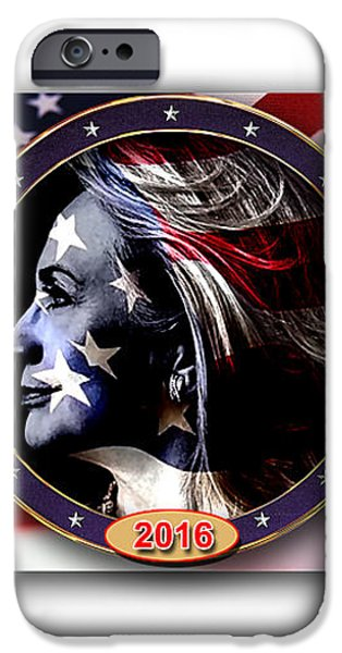 Hillary 2016 iPhone Case by Marvin Blaine
