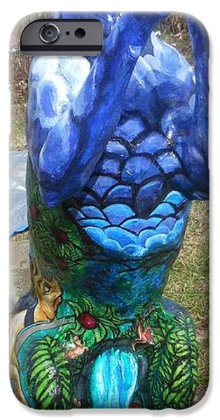 Clouds Sculptures iPhone Cases - Hunt For The Unicorn On A Full Moon iPhone Case by Genevieve Esson