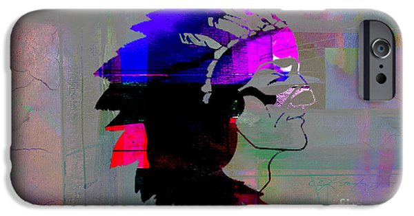 Indian iPhone Cases - Indian Chief iPhone Case by Marvin Blaine