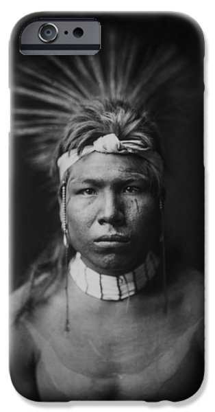 Young Man Photographs iPhone Cases - Indian of North America circa 1905 iPhone Case by Aged Pixel