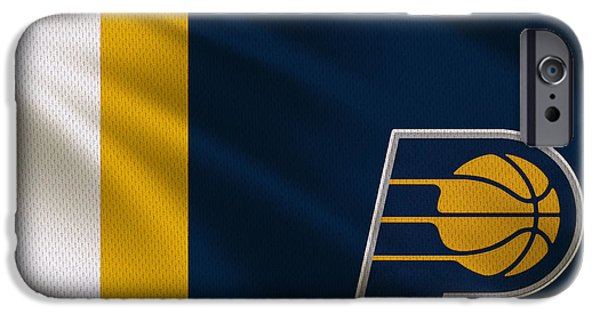 Pacers iPhone Cases - Indiana Pacers Uniform iPhone Case by Joe Hamilton