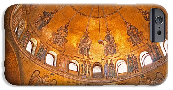 Interior Scene iPhone Cases - Italy, Venice, San Marcos Cathedral iPhone Case by Panoramic Images