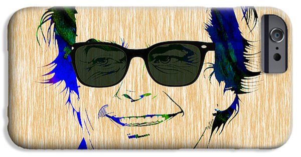 Stars iPhone Cases - Jack Nicholson Collection iPhone Case by Marvin Blaine
