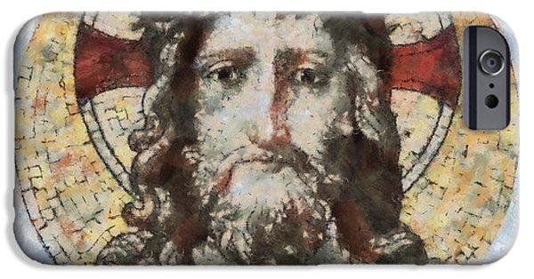 Jesus Artwork iPhone Cases - Jesus Christ iPhone Case by Michal Boubin