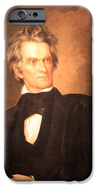 Cora Wandel iPhone Cases - John C. Calhoun -- The South The Poor South  -- 1 iPhone Case by Cora Wandel