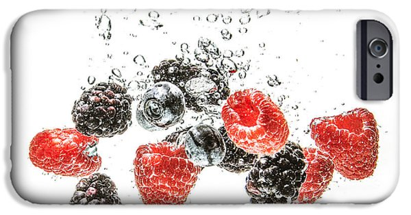 Berry Pyrography iPhone Cases - Juicy Fruit iPhone Case by Jennifer Russell