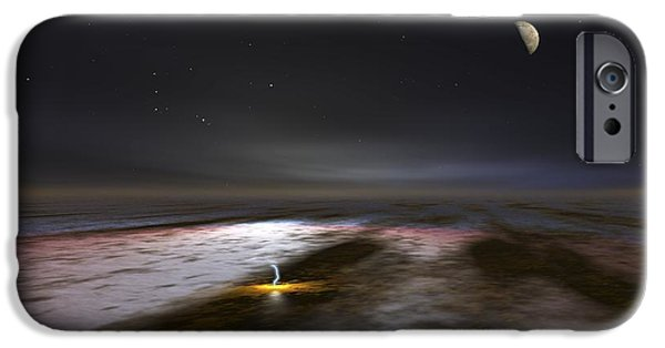 Galilean Moon iPhone Cases - Jupiter And Its Moons, Artwork iPhone Case by Walter Myers