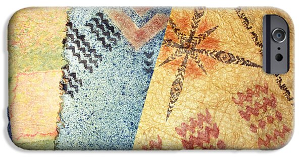 Tribal Tapestries - Textiles iPhone Cases - 4 Kapa iPhone Case by Dalani Tanahy