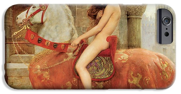 Paintings iPhone Cases - Lady Godiva iPhone Case by John Collier