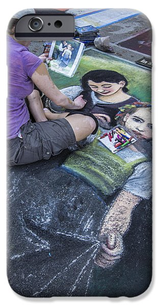 Painter Photographs iPhone Cases - Lake Worth Street Painting Festival iPhone Case by Debra and Dave Vanderlaan