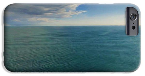 Celebrities Art iPhone Cases - Landscape Of Flowing Love iPhone Case by Sir Josef  Putsche