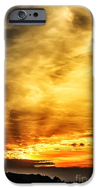 Colorful Cloud Formations iPhone Cases - Light Breaks Through iPhone Case by Thomas R Fletcher