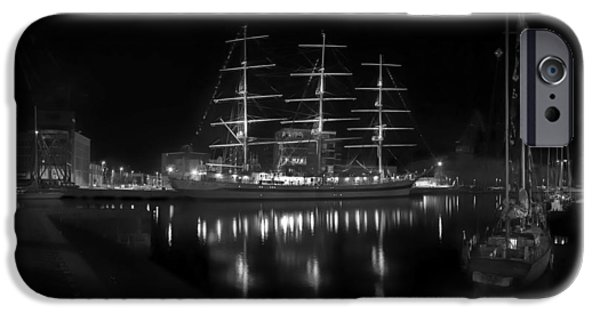 Tall Ship iPhone Cases - Lights of the Harbor iPhone Case by Mountain Dreams