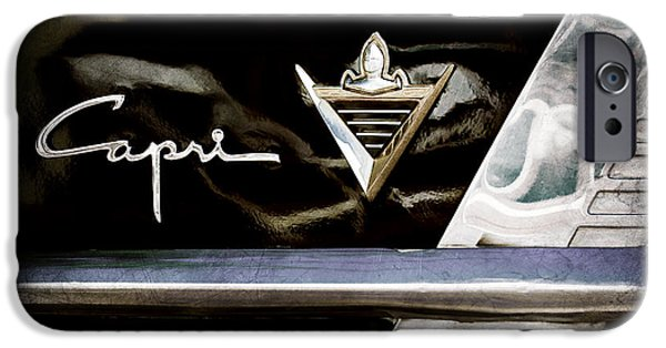 Lincoln iPhone Cases - Lincoln Capri Emblem iPhone Case by Jill Reger