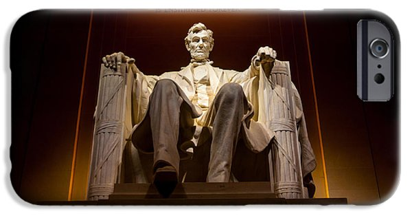 President iPhone Cases - Lincoln Memorial at Night - Washington D.C. iPhone Case by Gary Whitton