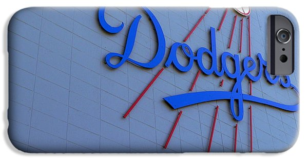 Recently Sold -  - Mounds iPhone Cases - Los Angeles Dodgers iPhone Case by Jeff Lowe