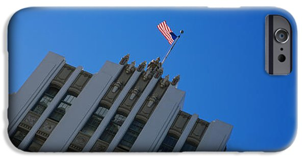 Flag iPhone Cases - Low Angle View Of An Office Building iPhone Case by Panoramic Images
