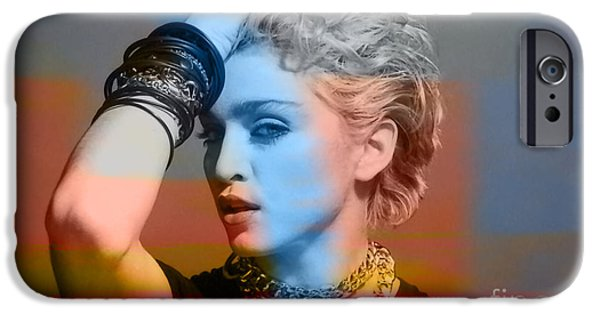 Madonna iPhone Cases - Madonna  iPhone Case by Marvin Blaine